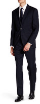 Ted Baker Jarret Navy Rope Stripe Two Button Notch Lapel Wool Suit