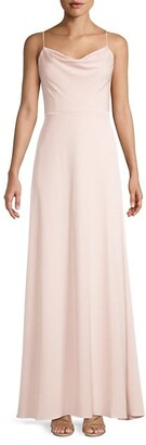 Adrianna Papell Matte Crepe Cowlneck Gown