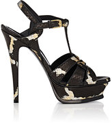 Saint Laurent Women's Tribute Python Platform Sandals