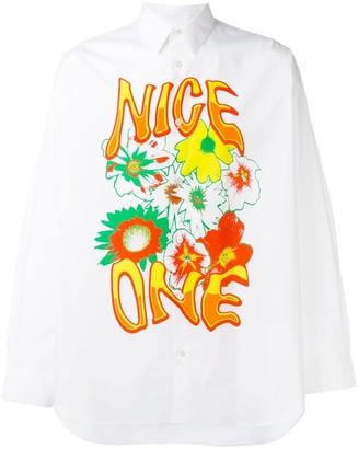 Stella McCartney Floral Print Front Shirt