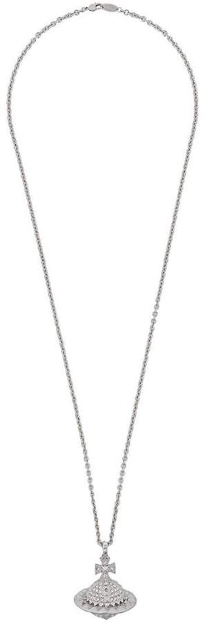 Vivienne Westwood crystal orb pendant necklace