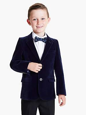 John Lewis & Partners Boys' Velvet Blazer Jacket