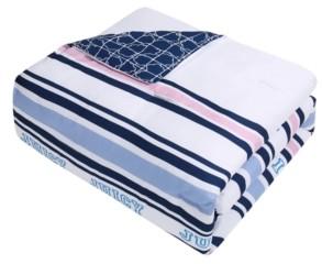 Juicy Couture Blair Stripe Reversible Comforter Set, 6 Piece, Queen Bedding