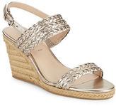 Via Spiga Indira Metallic Espadrille Wedge Sandals