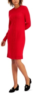 Charter Club Cable-Knit Sweater Dress, Created for Macy's