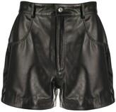 Manokhi fitted leather shorts