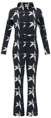 Perfect Moment Star-print Technical Soft-shell Jumpsuit - Black White
