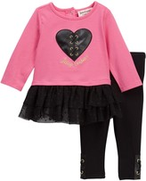 Juicy Couture Heart Tunic & Leggings Set (Baby Girls 3-9M)