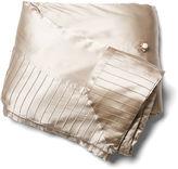 Kumi Kookoon French Pleat Silk Standard Throw, Taupe
