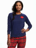 Old Navy Graphic Crew-Neck Sweatshirt for Women