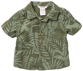 Joe Fresh Palm Printed Shirt (Baby Boys)