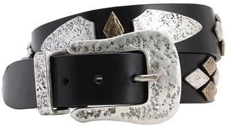 Isabel Marant 30mm Dern Leather Belt W/Studs