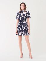 Diane von Furstenberg Eva Crepe-Blend Mini Dress