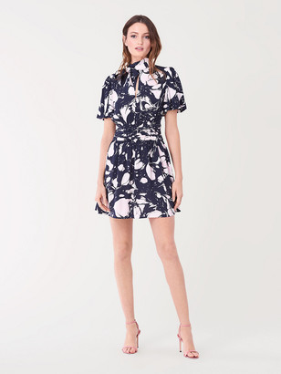 Diane von Furstenberg Eva Crepe-Blend Mini Dress