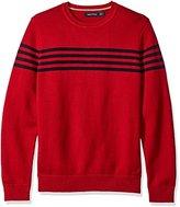 Nautica Men's Chest Stripe Sweater