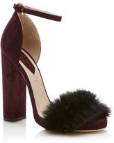 Elie Saab Fur Embellished Sandal