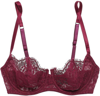 I.D. Sarrieri Cotton-blend Lace And Tulle Balconette Bra