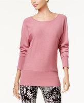 Thalia Sodi Chain-Back Dolman-Sleeve Sweater, Created for Macy's