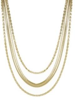 Ettika Supreme Mixed Chain Gold Layered Necklace