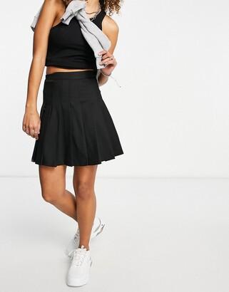 Monki pleated mini skirt in black