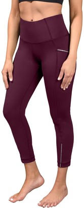 90 Degree By Reflex Interlink High Waist Pocket Ankle Leggings With Reflective Tape