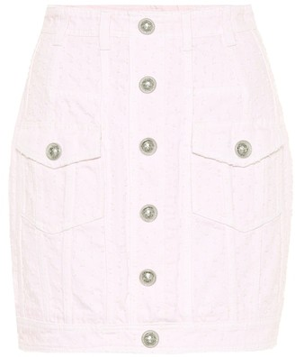Balmain Denim miniskirt