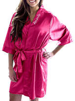Cathy's Concepts Cathys Concepts Personalized Satin Womens Satin Kimono Robes 3/4 Sleeve Short Length