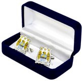 Manchester City F.C. Manchester City FC Mens Official Metal Football Crest Cufflinks