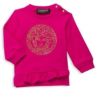 Versace Baby Girl's Metallic Graphic Sweater
