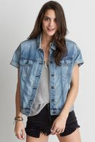 American Eagle Outfitters AE Short Sleeve Denim Jacket