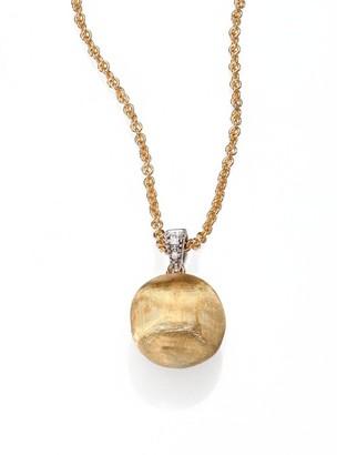 Marco Bicego Delicati Diamond, 18K Yellow & White Gold Sphere Pendant Necklace
