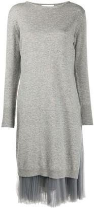 Fabiana Filippi Pleated-Detail Jumper Dress