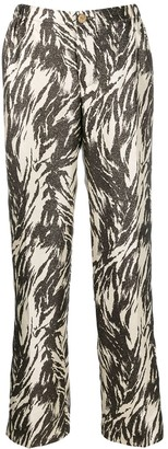 F.R.S For Restless Sleepers Printed Tapered Trousers