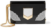Jimmy Choo Lockett Small Embellished Acrylic Clutch - Black