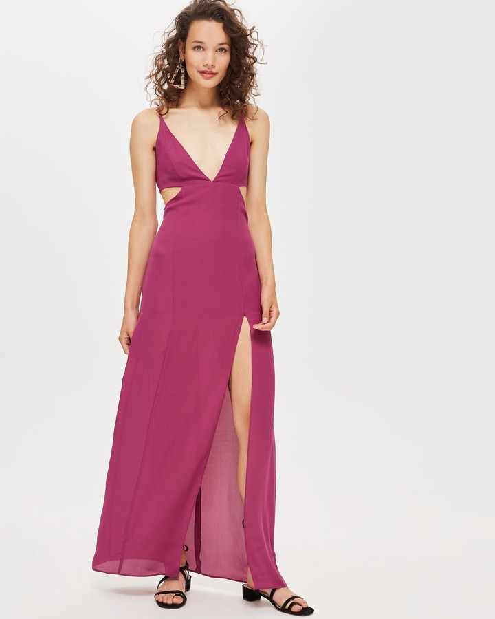 Topshop Cut Out Side Maxi