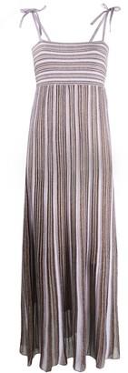 M Missoni pleated stripe maxi dress