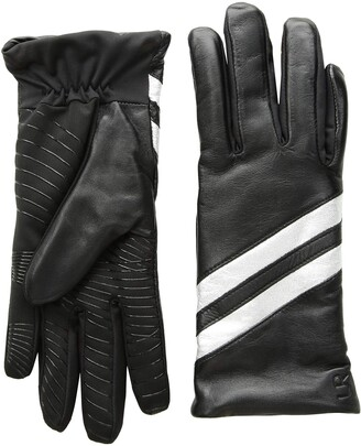 URBAN RESEARCH U|R Women's Leather Glove with Stripes