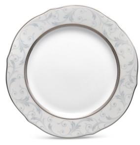 """Noritake Regina Platinum Scalloped Accent Plate, 9"""""""