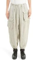 Yohji Yamamoto Men's Linen Cargo Pants