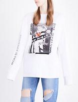 Sjyp Graphic-print cotton-jersey sweatshirt