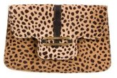 Jimmy Choo Leopard Print Ponyhair Ciggy Wallet