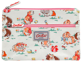 Cath Kidston Cath Kids Children's Pet Party Double Zip Pencil Case, White/Pink