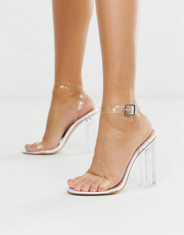 873696ab056 Alia iridescent clear heeled sandals