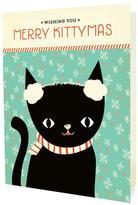 Night Owl Paper Goods Kitten Christmas Cards