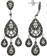 Swarovski Le Vieux Marcasite Silver-Plated Chandelier Earrings - Made with Marcasite