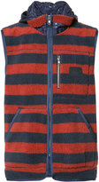 PRPS sleeveless striped hoodie - men - Polyester - M