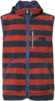 PRPS sleeveless striped hoodie