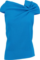 Roland Mouret Eugene draped cutout wool-crepe top