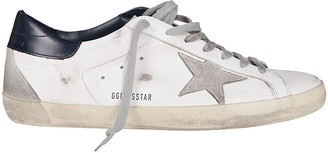 Golden Goose White Leather Superstar Sneakers