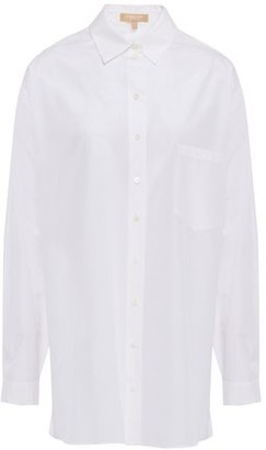 Michael Kors Silk And Cotton-blend Poplin Shirt